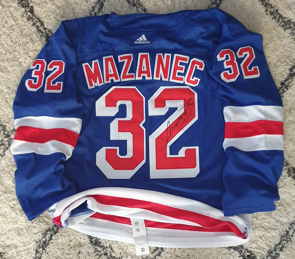 Podepsaný dres Marka Mazance - New York Rangers photo